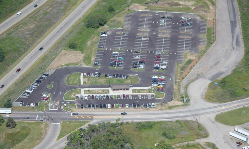 Aerial of Route 528 Park N Ride